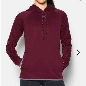 UA double threat fleece hoodie